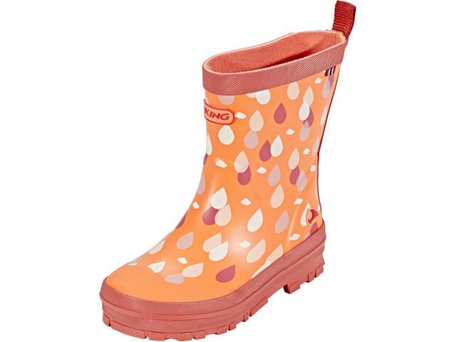 Viking Footwear Dråpe Rubber Boots Kinder coral